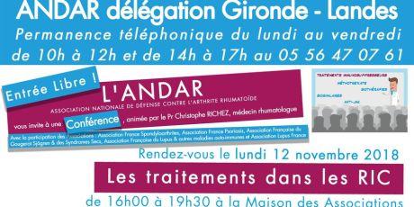 Conférence médicale le 12 Novembre 2018 à Mérignac (33)