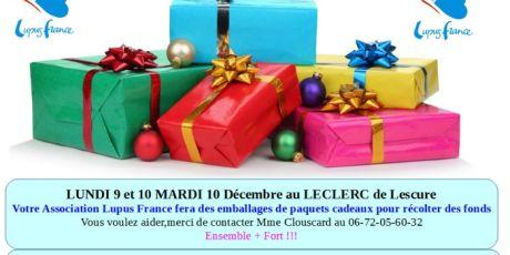 Emballages de paquets cadeaux Leclerc de Lescure