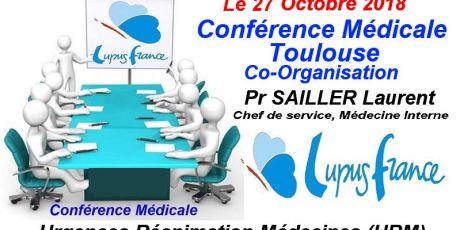 Conférence médicale le 27 octobre 2018 à Toulouse