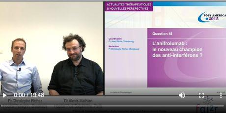 Interview : Retour sur 2 études de phase III concernant l'anifrolumab dans le Lupus..